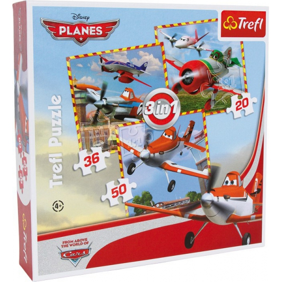 3 in 1 puzzel van Disney Planes
