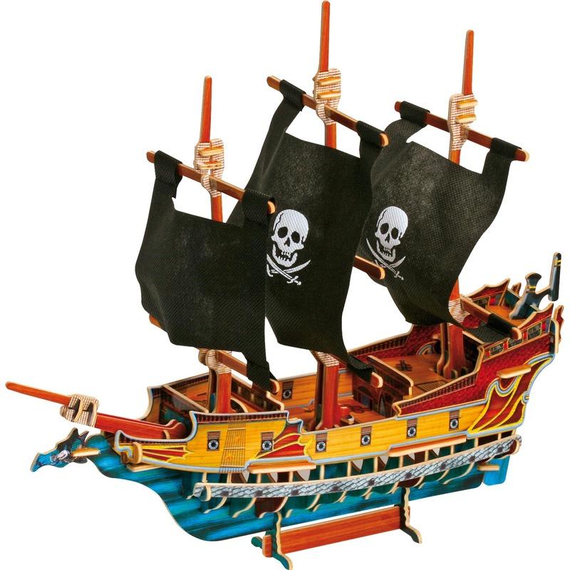 3D piratenschip puzzel 39 x 10 x 37 cm
