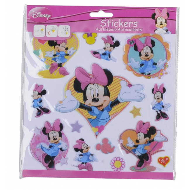 3D stickervellen Disney Minnie Mouse