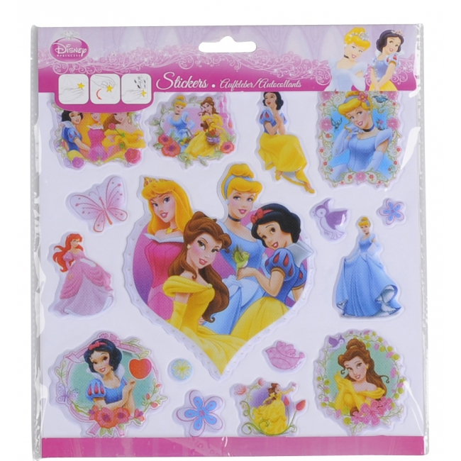 3D stickervellen Disney prinsessen