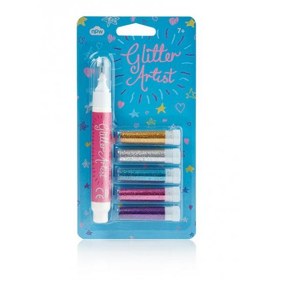 5 Stuks glitter pennen licht