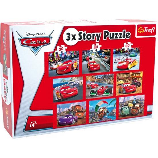 9 verschillende Disney Cars puzzels