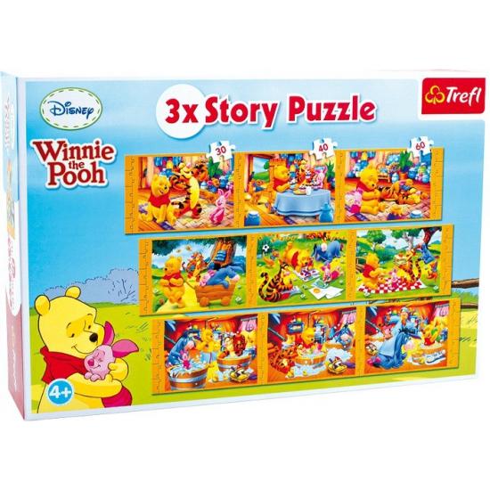 9 verschillende Winnie de Poeh puzzels