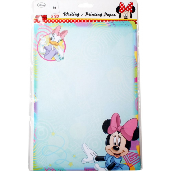 A4 schrijfpapier met plaatjes van Minnie Mouse 20 vellen