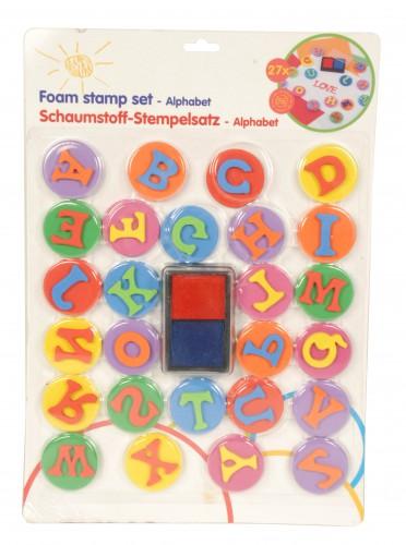 Alfabet stempels set