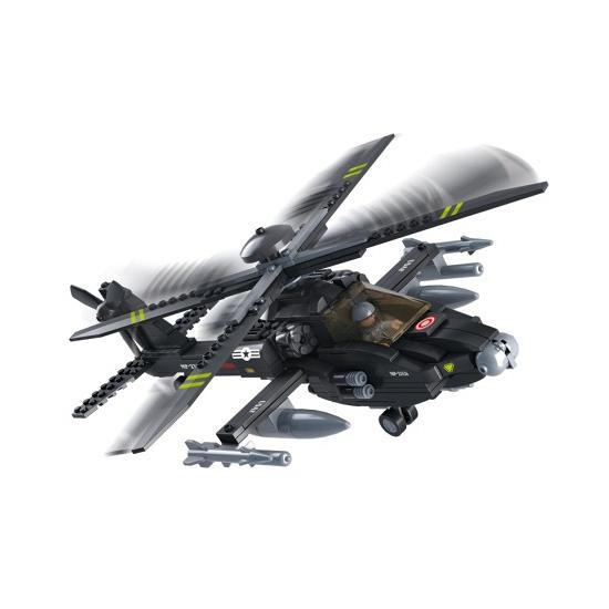 Apache helikopter bouwsteentjes