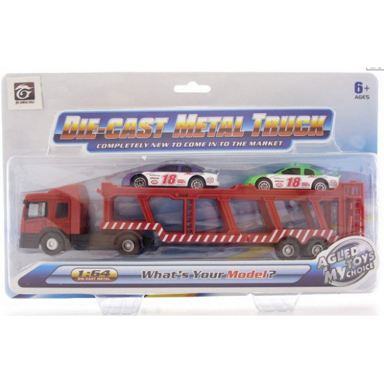 Auto transporter met 2 autos