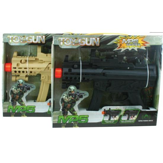 Automatisch geweer met batterijen