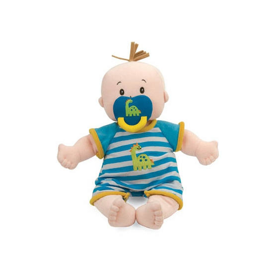 Baby stella poppen met blauw wit gestreepte kleding