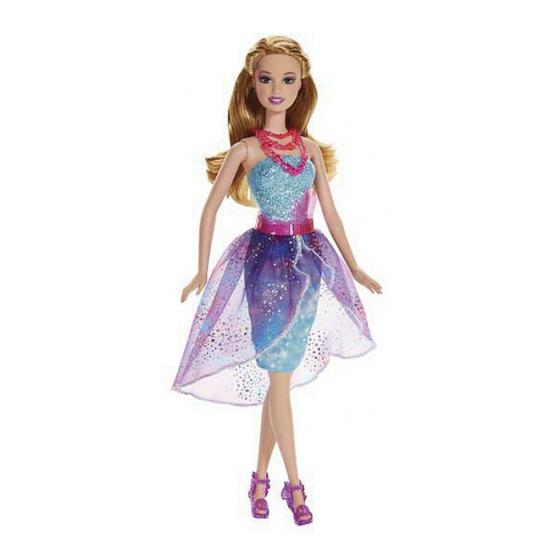 Barbie in blauw cocktailjurkje