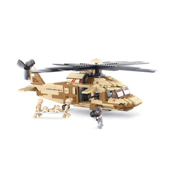 Black hawk helikopter bouwsteentjes