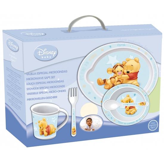 Blauw kinder servies van Winnie de Pooh