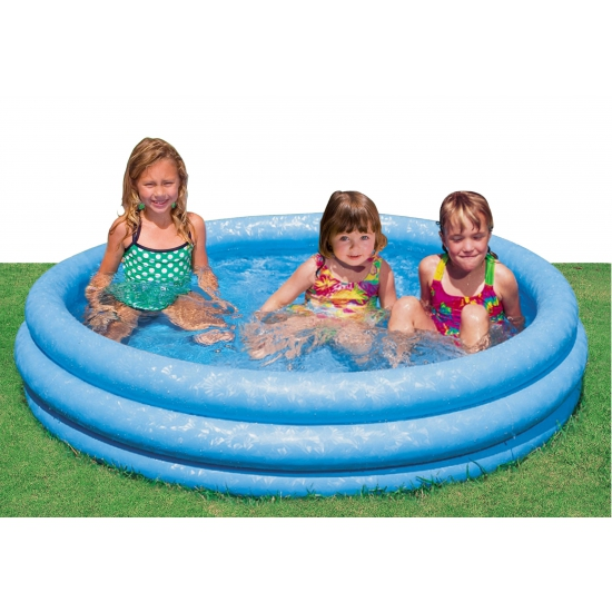 Blauw zwembad rond 168 x 41 cm