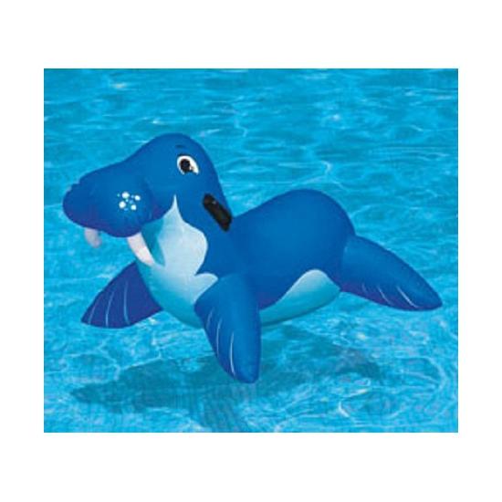 Blauwe opblaas walrus