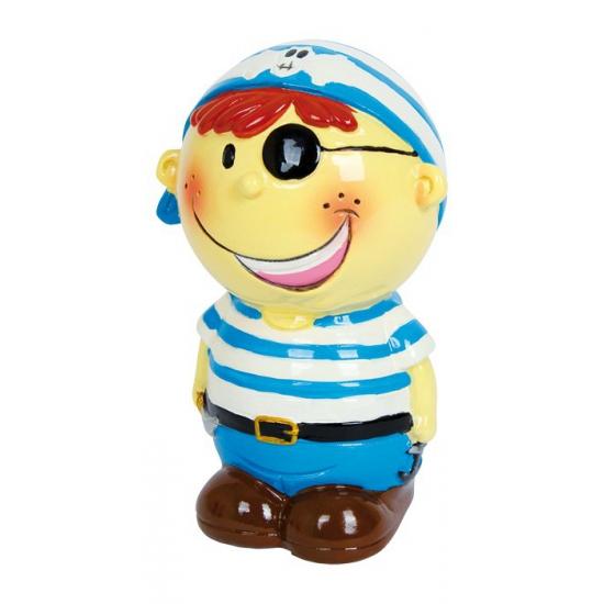Blauwe piraat spaarpot 14 cm