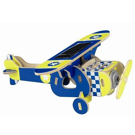 Blauwe solar vliegtuig bouwpakket