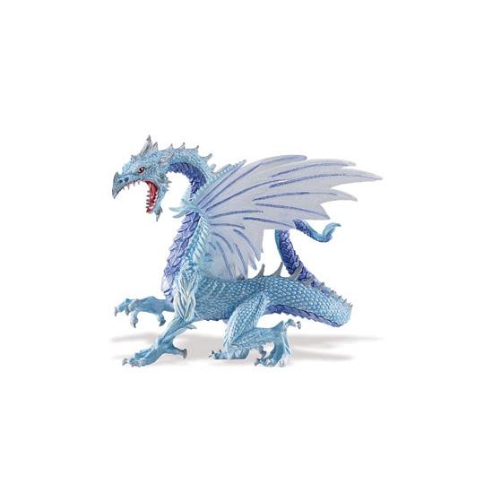 Blauwe speelgoed draak van plastic 15 cm