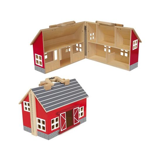 Boerderij poppehuis van hout