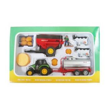 Boerderij speelset tractor met gierwagen