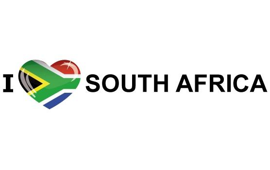 Bumper sticker I Love South Africa