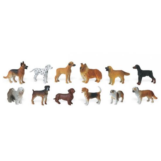 Decoratie honden 14 stuks
