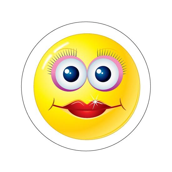 Deurstickers Smiley type 10
