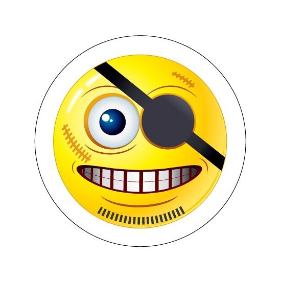 Deurstickers Smiley type 8