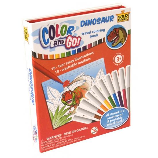 Dino kleurboeken met stiften