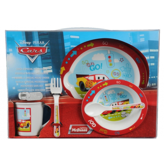Disney Cars plastic servies set 5 delig
