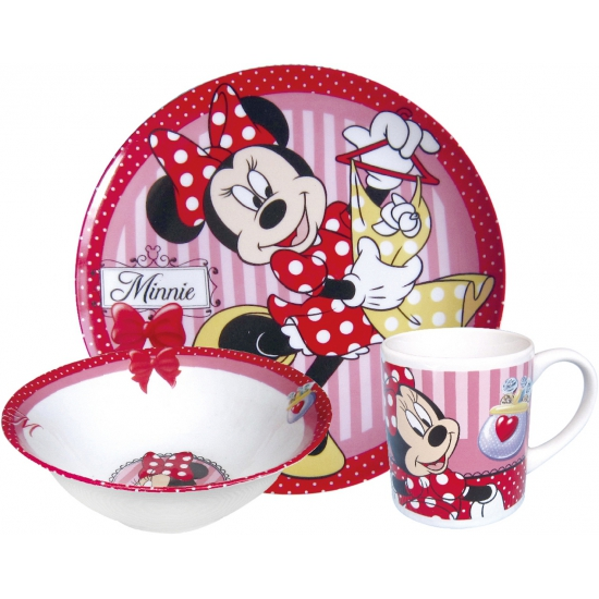 Disney Minnie Mouse bordjes met kop