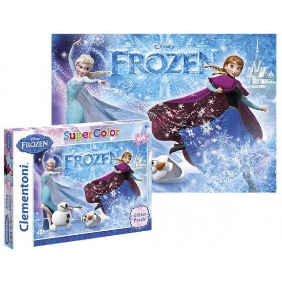 Disney puzzel frozen glitter