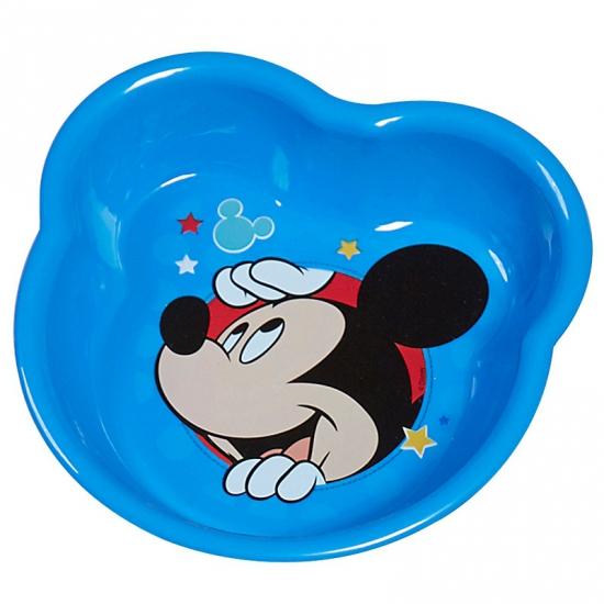Donkerblauwe Mickey Mouse schaaltjes van plastic 16 cm