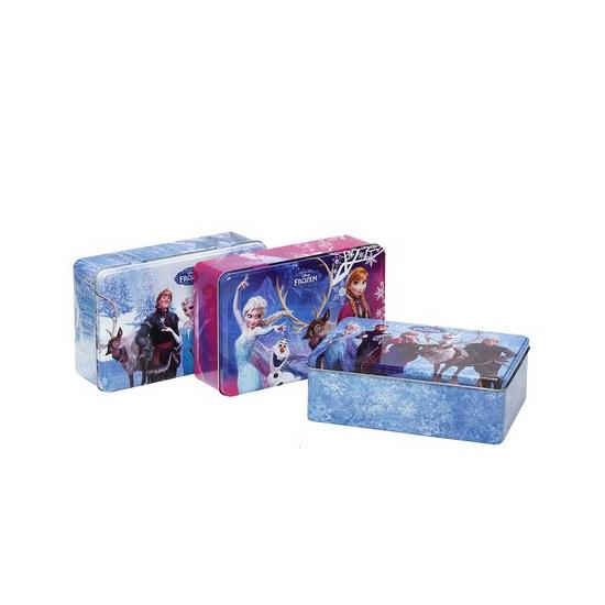 Frozen snoepdoos blauw 20 cm