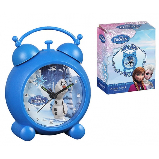 Frozen thema wekker blauw
