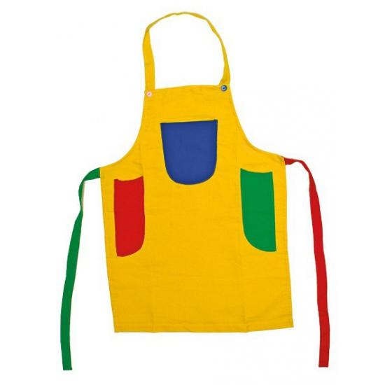 Gekleurd knutsel schort voor kids