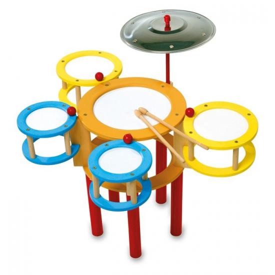 Gekleurd speelgoed drumstel