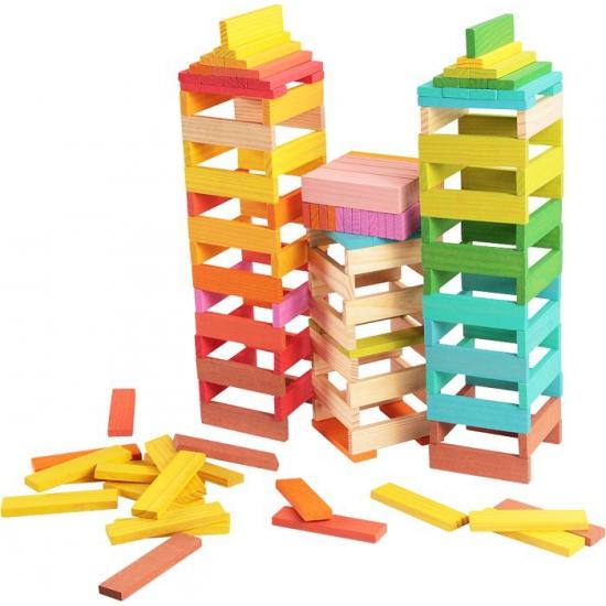 Gekleurde bouw blokken 150 stuks