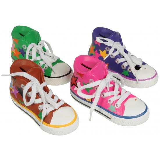 Gekleurde schoenen spaarpot