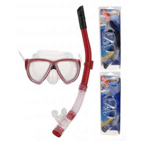 Gekleurde snorkel set voor volwassenen