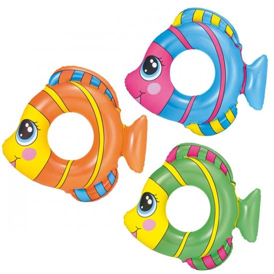 Gekleurde vissen zwemgordel 81 x 76 cm
