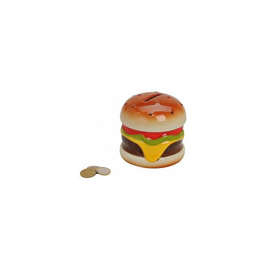 Geld spaarpot hamburger 10 cm