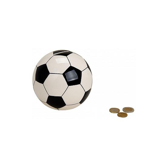 Geld spaarpot voetbal 13 cm