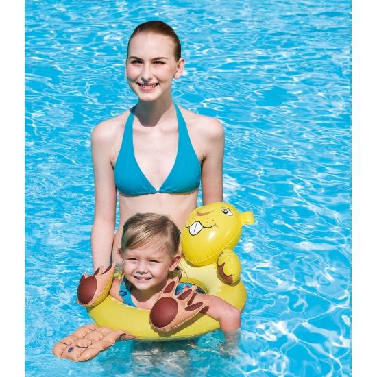 Gele bever zwemband 64 x 56 cm