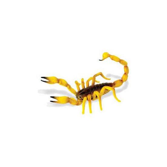 Gele plastic schorpioen 16,5 cm