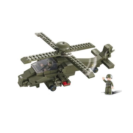 Gevechtshelikopter bouw blokjes