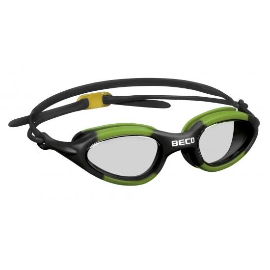 Groene PVC zwembril voor volwassenen
