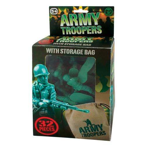 Groene speelgoed soldaatjes