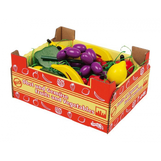 Groentewinkel speelgoed kist