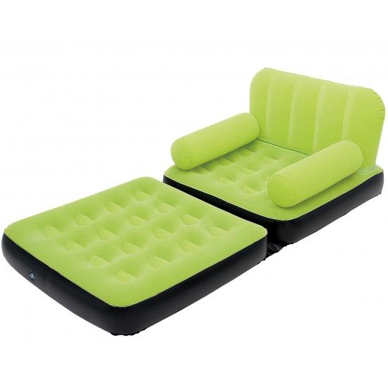 Grote opblaasbare sofa groen