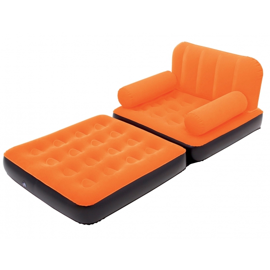 Grote opblaasbare sofa oranje